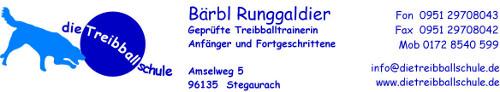 Die Treibballschule Bärbl Runggaldier